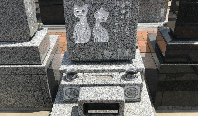お母様直筆のイラストと文章が刻まれた心温まる墓石